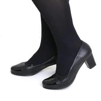 High heels in soft leather (7,5 cm)