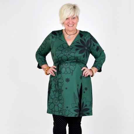 Smickrande klänning med slits, FRIDA