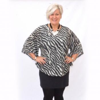Blouse with zebra print