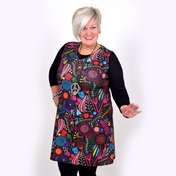 Retropatterned dress / tunic, FLORA
