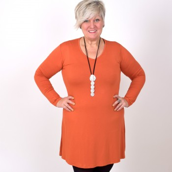 Bastunika ANNIKA med V-ringning, orange