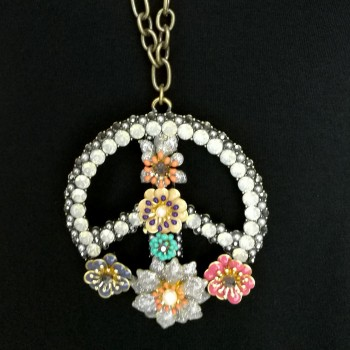 Necklace, peace symbol