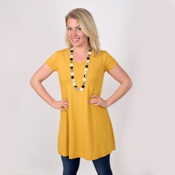 Short sleeved basic tunic, ANITA