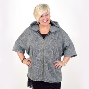 Jacket with hood and zipper
