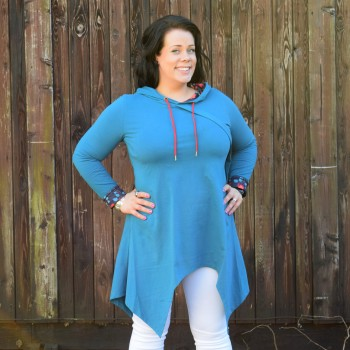 Tunic with hoodie, MIRJAM