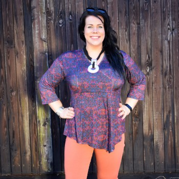 Colorful asymmetric tunic, IRMA