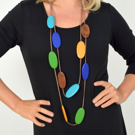 Necklace made of wood