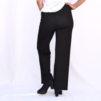Pilkulliset leveälahkeiset housut, BEA