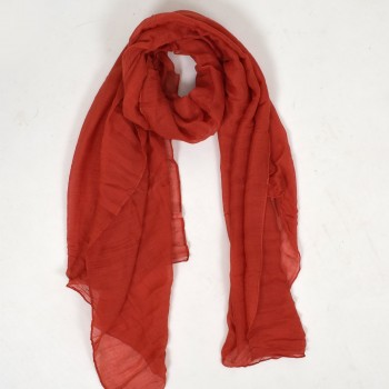 One colored scarf, available in several colors