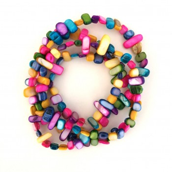 Long colorful necklace