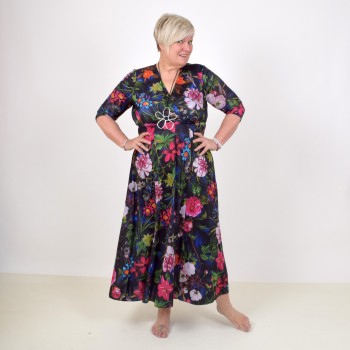 Floral maxidress with 1/2 sleeve, ELISABET