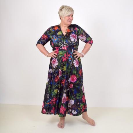 Floral maxidress with 1/2 sleeve, ELISABET