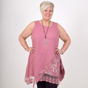 Tunic in linen, JULI, dusty pink