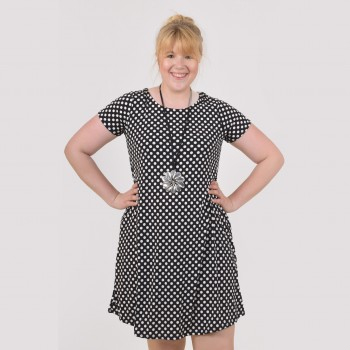 Tunic with dots and short sleeve, MARINA