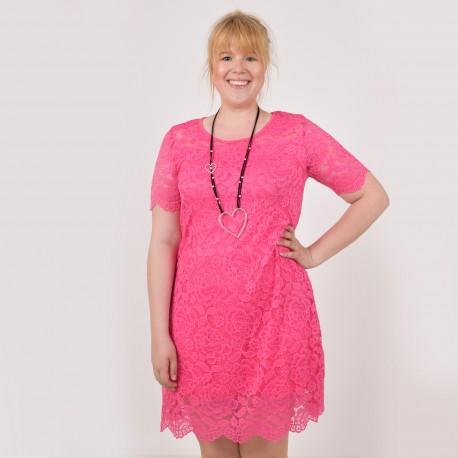 Short sleeved dress in lace, JUNI