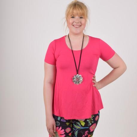 T-shirt MINNA med läcker rygg, rosa