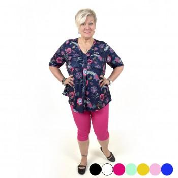Pinkit joustavat caprihousut, useita värejä