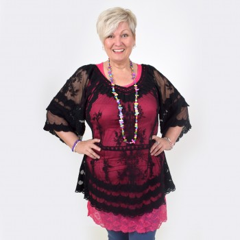 Black lace tunic, MAY