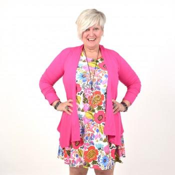 Pink thin cardigan, TESSA