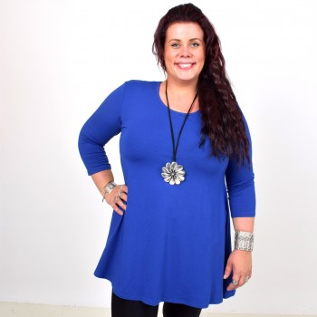 SAARA, basic tunic with 3/4 sleeve