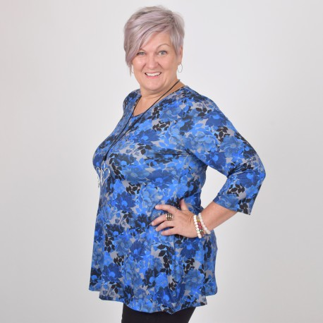 Patterned tunic with V-Neck, DIANA