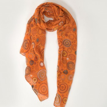 Patterned scarf in many colors