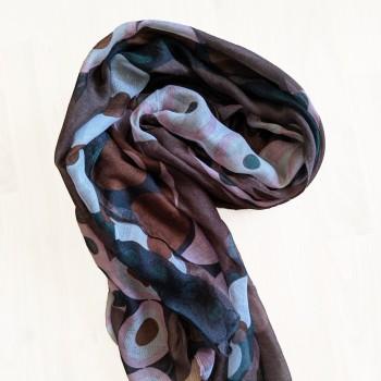 Mönstrad sjal, finns i flera färger