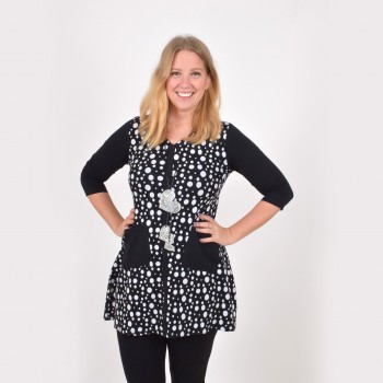 Polkadot tunic with pockets, ISABELLA