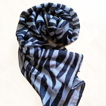 Zebra patterned scarf