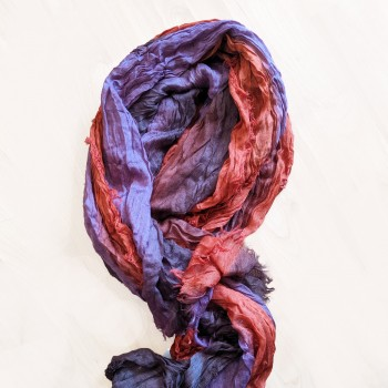 Dye colored scarf
