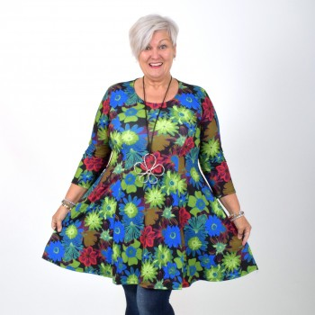 Patterned flower dress, BEATA