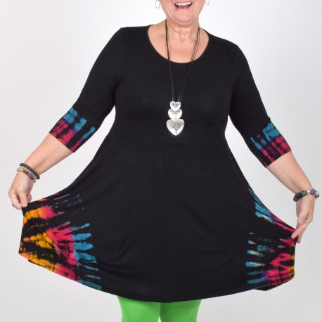 Black batic tunic, KAJSA