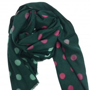 Warm scarf with dots