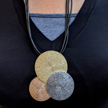 Necklace with big pendant