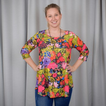 Flattering blouse with 3/4 sleeve, DORIS