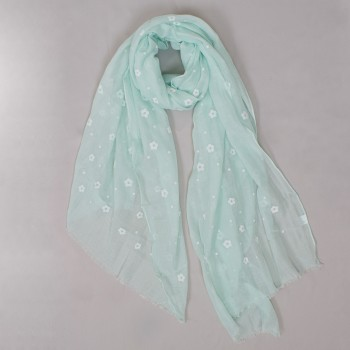 Scarf with small flowers