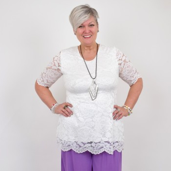White lace blouse, ANN