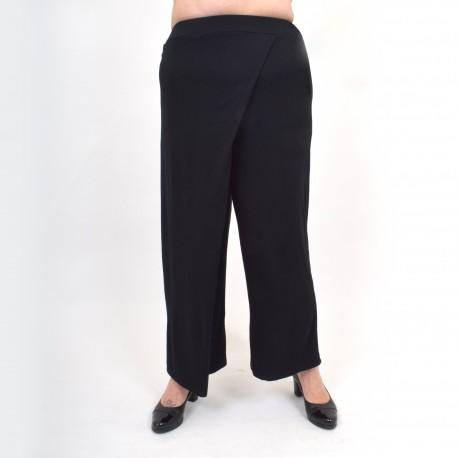 Svarta byxor med fickor och breda ben 'EMELIE'