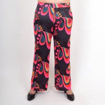 Kuviolliset leveälahkeiset housut, BODIL