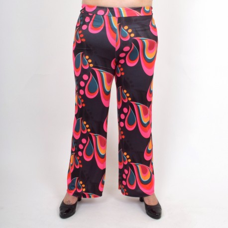 Wide pants with cool pattern, BODIL