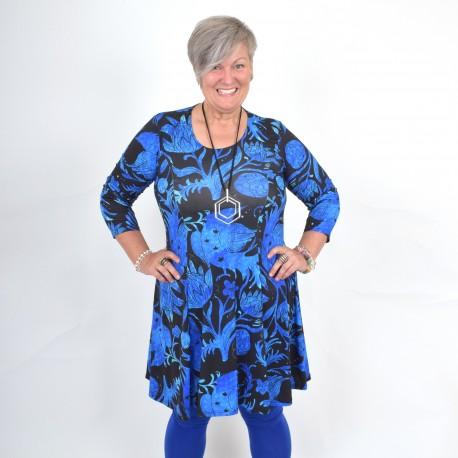 Blue floral dress, BEATA