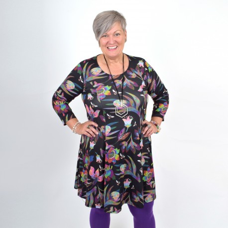 Multi-colored floral dress, BEATA