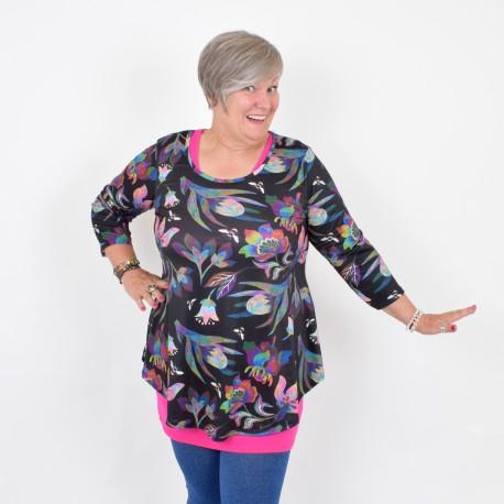 Flattering blouse with 3/4 sleeve, DORIS