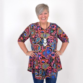 Flattering tunic with 3/4 sleeve, MICHELLE