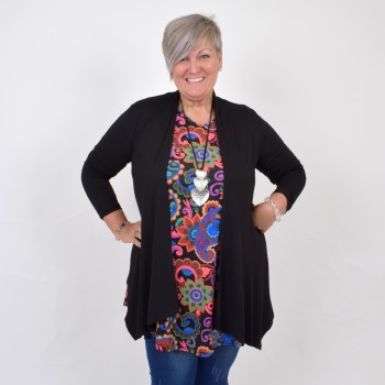Thin black cardigan, TELMA