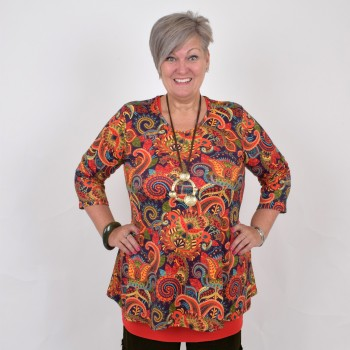 Floral tunic in warm colors, DIANA