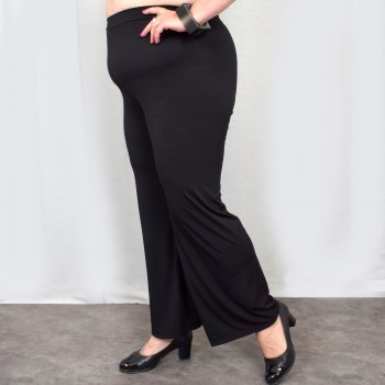 Black wide pants, BODIL
