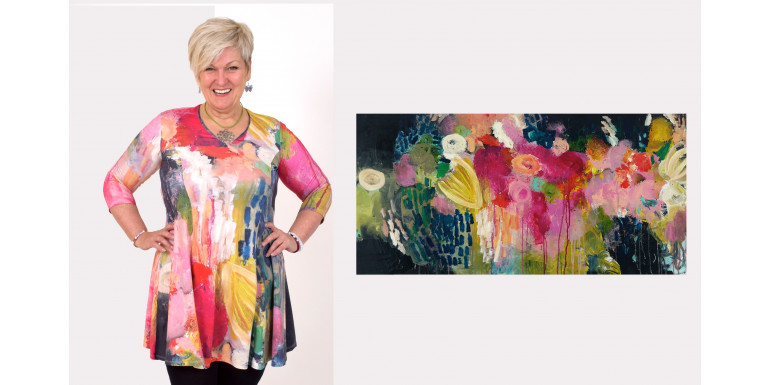 Dress yourself in a painting - check out the artwork behind our new dress