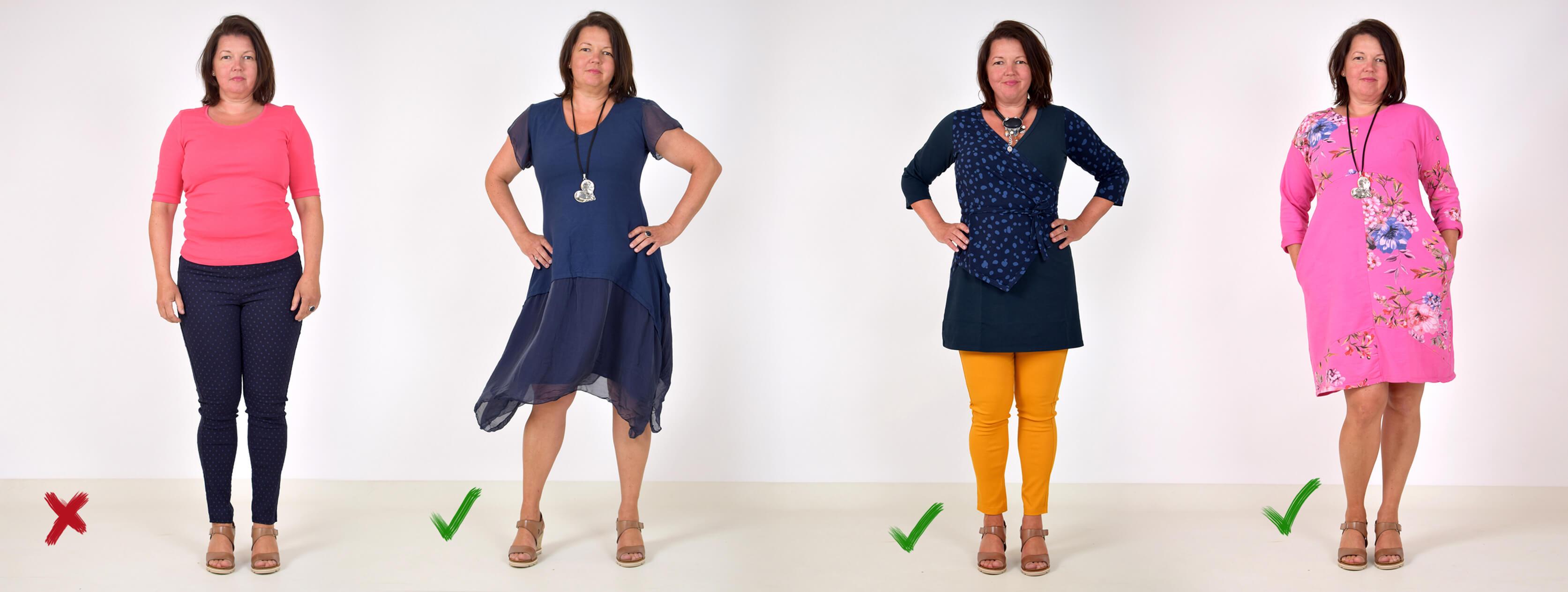klänning för smal rak figur