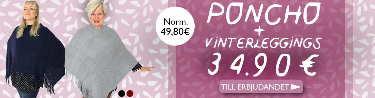 Köp PONCHO - Vinterleggings på köpet!